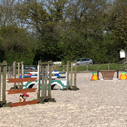 Show jumps in outdoor arena